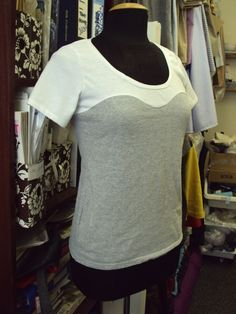 Bustier line T-shirt Tutorial by sozowhatdoyouknow