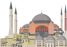 Blue Mosque by Herbertrocha on DeviantArt Hagia Sophia Istanbul, Islamic Events, Watercolor Architecture, Buch Design, Blue Mosque, Turkish Art, Cathedral Church, City Illustration, Paint Shop