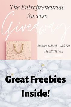 The Entrepreneurial Success Giveaway - A great collection of freebies to help you grow your business this year!