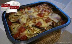 Cukkinis csirkemell - tepsis rakott étel receptje Lasagna, Food And Drink, Ethnic Recipes, Lasagne