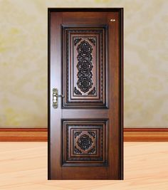 Wooden Front Door Design, Wood Front Doors, Main Door Design, Custom Wood Doors, Wooden Doors, Two Panel Doors, Door Furniture, Ceiling Design, Biodata Format
