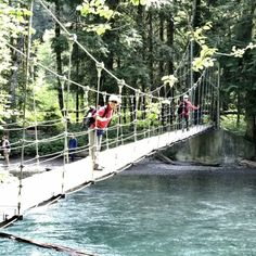 The bridge isn't particularly high, so even if you're scared of heights, it should be no big deal.