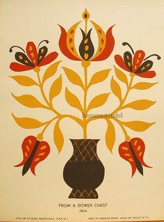 PA dutch style folk art