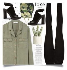 """""""Без названия #159"""" by lena-volodivchyk ❤ liked on Polyvore featuring Paige Denim, MANGO, P.A.R.O.S.H. and Allstate Floral"""