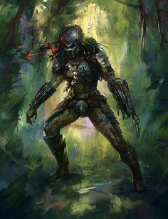Predator by berylcirclet on DeviantArt Alien Vs Predator, Predator Costume, Predator Cosplay, Predator Movie, Predator Alien, Wolf Predator, Predator Helmet, Apex Predator, Fantasy Warrior