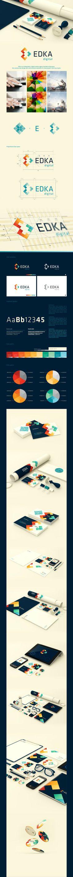 Edka公司logo设计灵感&公...