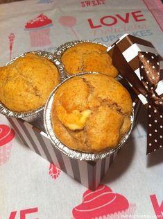 [Receta] Muffins de chocolate blanco, plátano y nueces