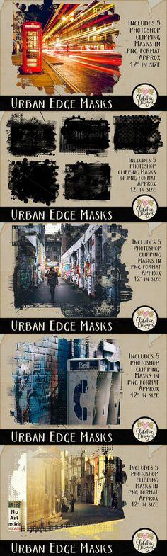 Urban Edge Photoshop Clipping Masks. Photoshop Shapes. $5.00
