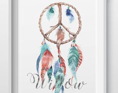 Hand-made, personalised prints, gifts, and homewares by LittleBilliBoho Personalised Prints, Dream Catcher, Etsy Seller, Peace, Boho, Creative, Handmade, Gifts, Dreamcatchers