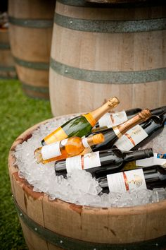 Hire Society's Rustic wine barrels complement the outdoor setting of a garden party. Hire prices starting from ($25.00) each per hire.