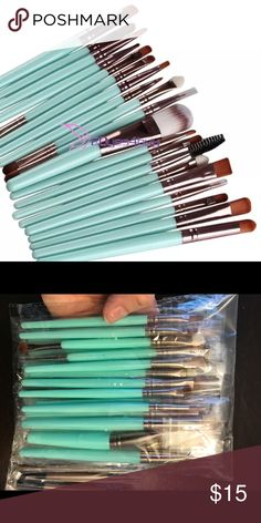 20 PIECE MAKE UP BRUSH SET - TURQUOISE Excellent 20 piece make up brush set. This has all you'll need. Why pay $20 for one brush when you can get an entire set for such a great price? Other colors are available in my Closet. New and direct from the maker.  ❤️ Save 20% when you buy 2+ items in my Closet ❤️  👇🏻👇🏻👇🏻  If you LIKE my Closet, FOLLOW ME to see NEW ARRIVALS   Jewelry accessories popular beach pool summer birthday gift present women vacation cruise date night beach spring club…