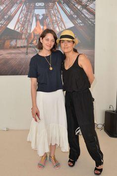 Salma Hayek et Marion Cotillard a Paris ,2015 July 4th