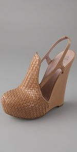 alejandro ingelmo for chris benz woven wedge pump - are those your real legs?