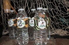 DIY Printable Safari Party Water Bottle Labels by LilPartyAnimals, $5.00