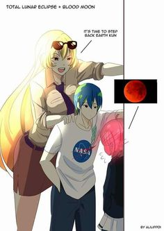 TOTAL LUNAR ECLIPSE +BLOOD MOON IT'S TIME TO STEP BACK EARTH KUN NASA BY ALILIPPoI