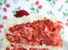 Summer Strawberry Coconut Cake Recipe