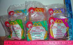 Disney 1998 McDonald's Happy Meal Toys Video Favorites 6 Toys Set MIP