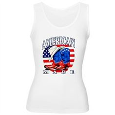 #Artsmith Inc             #ApparelTops              #Women's #Tank #American #Made #Country #Cowboy #Boots                        Women's Tank Top American Made Country Cowboy Boots and Hat                                             http://www.seapai.com/product.aspx?PID=7611896