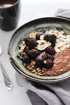 Incorporate something sweet into your breakfast with this vegan mocha chia pudding recipe.