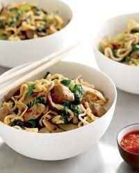 Asian Pork, Mushroom and Noodle Stir-Fry Recipe on Food & Wine