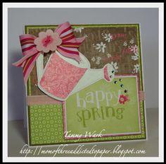 Walk in My Garden cartridge card idea.  SO cute!