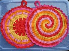 Pot holders.... Made in Germany..I'm going to try to crochet again.