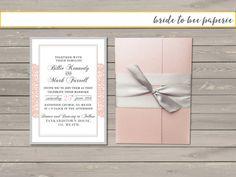 Blush Pink Pocket Fold lace Wedding by bridetobeepaperie on Etsy