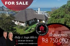 EXCLUSIVE MANDATE This classic thatched family home in popular Voëlklip is very well located on a large leafy corner block, boasting indigenous flora, bird life and amazing sea and mountain views. The main house on the upper floor has 3 spacious bedrooms with wooden floors and oakwood cupboards. From the master bedroom with its own en-suite there is access to the entertainment patio, where you will find the most amazing views of the majestic Hermanus mountains. #CCH #voelklip #hermanus 6 Bedroom House, Master Bedroom, Maine House, Architect Design, Wooden Flooring, Cupboards, Very Well, Mountain View, Floors