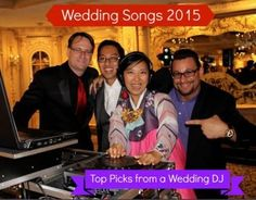 From the @njweddingcom blog, check out our songs ideas for a First Dance at a Wedding, updated for 2015.  Includes modern songs, timeless classics, and first dance songs used by celebrities!  #WeddingMusic
