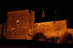 Fulbert Tower and Debtors Prison at Night, Dover Castle, Kent, England, UK. This square tower lies between Rokesley's Tower and Hurst's Tower on the Western Outer Curtain Wall. Also known as Calderscot's Tower. Built by Fulbert de Lucy (alt. Fulbert de Lucie, Fulbert of Dover) whose family came over with William the Conqueror from Normandy in 1066. Listed Building and Scheduled Ancient Monument. Norman Medieval History, Travel, Tourism, and Vacation. See: http://www.panoramio.com/photo/52629857