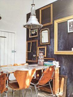 Mural Pizarra - Pared Pizarra - Decorar con pizarra - Pizarra adhesivo - Ideas de decoración - decoraconimaginacion.com
