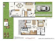 plantas casa duplex - Pesquisa Google