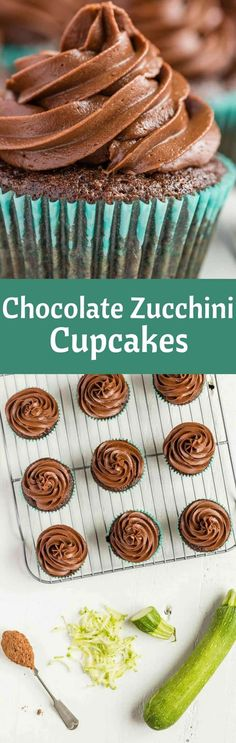 Chocolate Zucchini Cupcakes | Dessert | Cupcakes via @introvertbaker