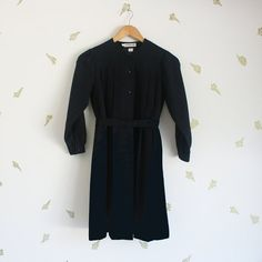 vintage 80s cacharel girls dress / navy blue / by foxandrook, $96.00