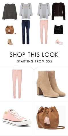 """""""Blouse_Marsala_Ecrue"""" by clicandfit ❤ liked on Polyvore featuring Balenciaga, Yves Saint Laurent, Converse, UGG and Gucci"""