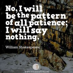 Quotes of the Day www.teelieturner.com Be the pattern of all patience.. #inspirationalquotes