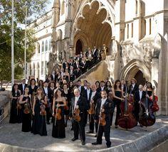Orchestra photo shoot at Robert Samut Hall