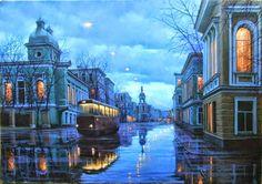Alexei Butirskiy, 1974 | Symbolist cityscape painter | Tutt'Art@ | Pittura * Scultura * Poesia * Musica |