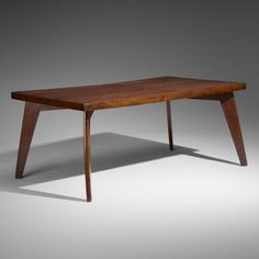 For Auction: Pierre Jeanneret, dining table from Chandigarh ( on Dec 2019 Antique Dining Tables, Dining Bench, Pierre Jeanneret, Chandigarh, Unique Furniture, Teak, Auction, Antiques, Designers