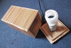 coffee stir sticks/popsicle sticks lamp by Shen Guo via Behance