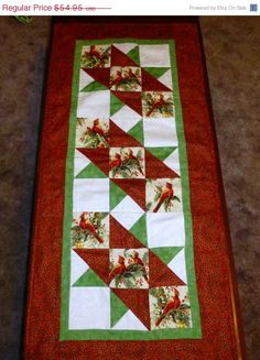 Christmas Countdown SALE Quilted Table by SuesCreatingCottage