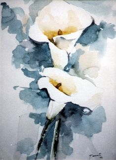 My first one (Marianoff) Abstract Flowers, Abstract Watercolor, Watercolor Flowers, Watercolor Artists, Watercolor Portraits, Abstract Oil, Watercolor Landscape, Abstract Paintings, Oil Paintings