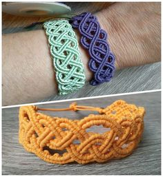 Keltske makrame narukvice - Igra staklenih perlica