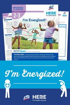 I'm Energized!—In this Grade 2-3 lesson, students create their own physical activity, making an instant energy superhero activity card with a clever name for their movement and a picture of the superhero doing the stretch. Works well as an at-home or in-class activity. Class Activities, Physical Activities, Healthy Schools, Kids Moves, Outdoor Learning, Grade 2, Student Learning, Lesson Plans, Physics