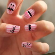 The stripes are so cute! I want to do this with moustache decals.