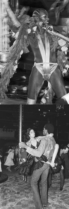 Grace Jones & Bianca Jagger at Studio 54