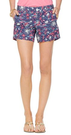 Lilly Pulitzer Callahan Short in Sparks Fly Glow. These would be perfect for 4th of July
