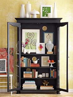 glass front armoire by roji