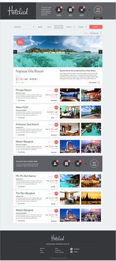 Hotelied on Behance Portfolio Website Design, Hotel Website, Resort Villa, Looking For People, Koh Samui, Travel And Tourism, Web Design, Waves, Studio