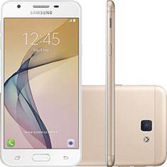 Smartphone Samsung Galaxy J5 Prime Dual Chip Android 6.0 Tela 5 Quad-Core 1.4 GHz 32GB 4G Wi-Fi Câmera 13MP com Leitor de Digital - Dourado